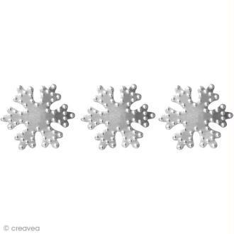 Déco métal autocollant Flocon de neige 3,3 x 3,3 cm x 8
