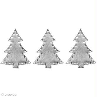 Déco métal autocollant Sapin de Noël 2,7 x 3,6 cm x 9