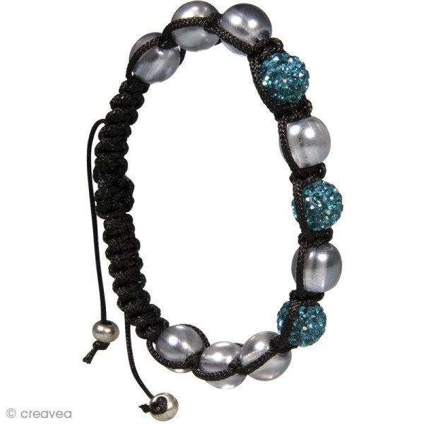 Kit bracelet shamballa - Lagune - Photo n°2