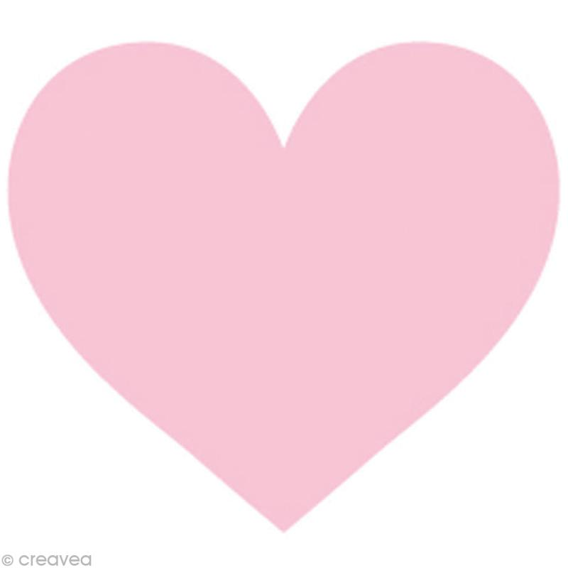 appliqu coeur rose en feutrine 4 5 x 6 cm etiquette thermocollante creavea. Black Bedroom Furniture Sets. Home Design Ideas