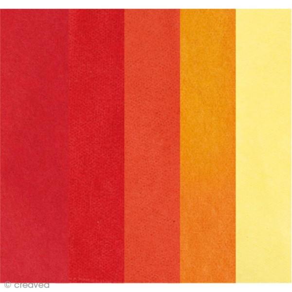 Papier de soie assortiment Rouge - Paper Poetry 50 x 70 cm - 5 feuilles - Photo n°1