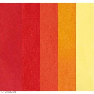 Papier de soie assortiment Rouge - Paper Poetry 50 x 70 cm - 5 feuilles