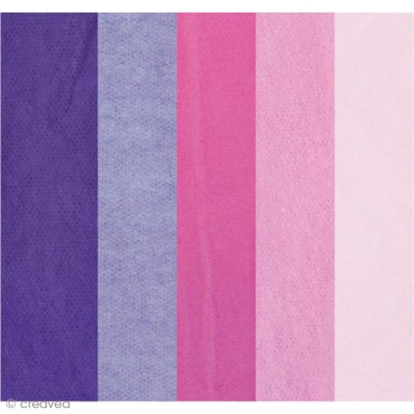 Papier de soie assortiment Lilas - Paper Poetry 50 x 70 cm - 5 feuilles - Photo n°1