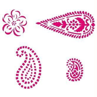 Pochoir motif indien 13 x 10 cm