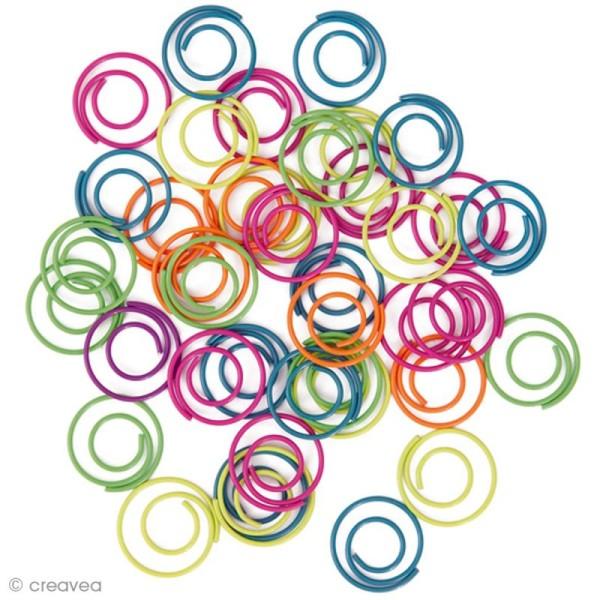 Trombones de couleur - Ronds 2 cm - 30 pcs - Photo n°1