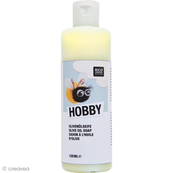 Savon à l'huile d'olive pour laine à feutrer et textiles - 125 ml - Photo n°1