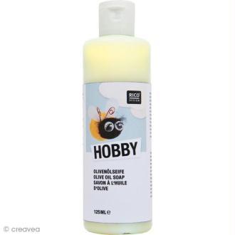 Savon à l'huile d'olive pour laine à feutrer et textiles - 125 ml