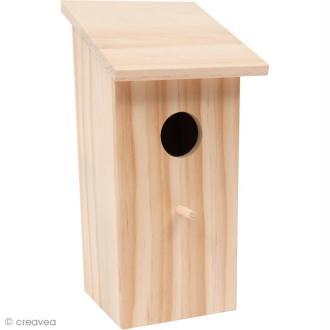 Nichoir en bois - Carré Mini - 21,5 cm