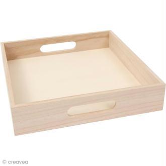Plateau en bois à décorer - Grand modèle - 32 cm