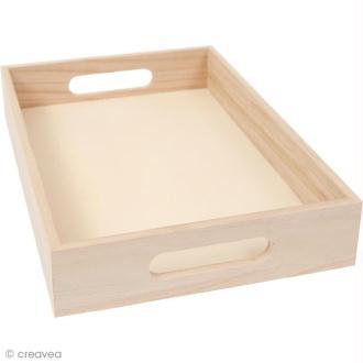 Plateau en bois à décorer - Petit modèle - 32 cm