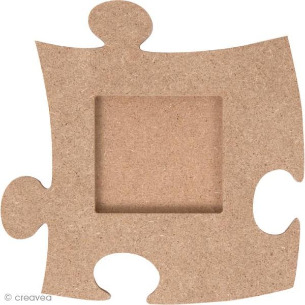 Cadre photo puzzle à décorer - 12,5 cm - Photo n°1