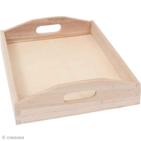 Plateau en bois à décorer - Moyen modèle - 26,5 cm - Photo n°1