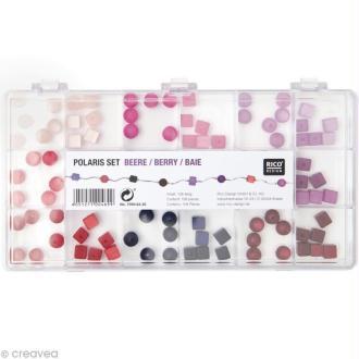 Perles Polaris Baie Rondes et carrées - 108 pcs