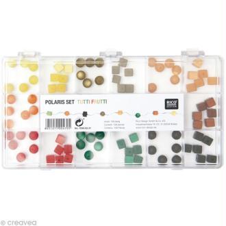 Perles Polaris Tutti Frutti Rondes et carrées - 108 pcs