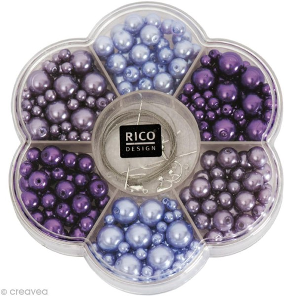 Kit Perles Bijoux - Renaissance - Lilas - Photo n°1