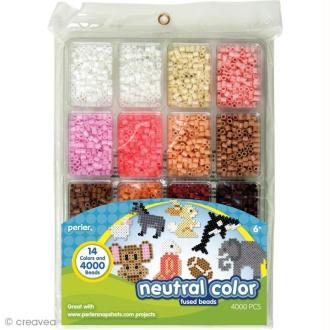 Perles à repasser Perler - Assortiment Couleurs neutres x 4000