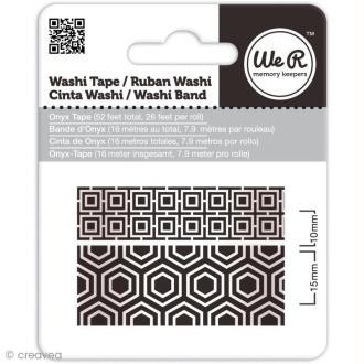Washi tape oriental - 2 rouleaux Noir onyx
