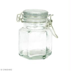 Pot en verre vide - Hexagonal 9 x 6 cm - 100 ml