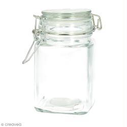 Pot en verre vide - Carré 12 x 6 cm - 260 ml