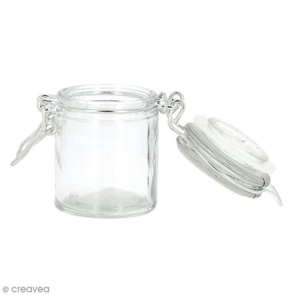 Pot en verre vide - Rond 4,5 x 6 cm - 45 ml - Photo n°2