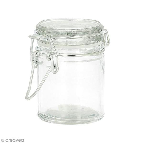 Pot en verre vide - Rond 4,5 x 6 cm - 45 ml - Photo n°1