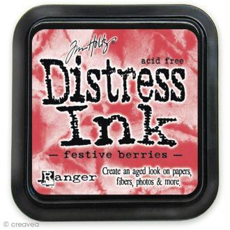 Encreur Distress Ink - Encre Rouge baie (Festive berries)