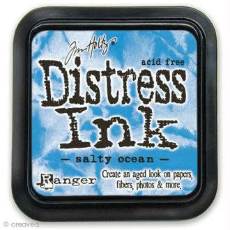 Encreur Distress Ink - Encre Bleu océan (Salty ocean)