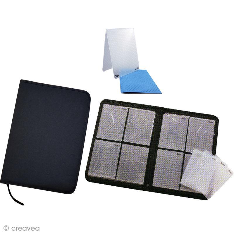 organiseur pour classeurs de gaufrage 36 5 cm rangement scrapbooking papier creavea. Black Bedroom Furniture Sets. Home Design Ideas