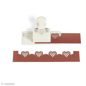 Perforatrice Martha Stewart - Frise Coeur dentelle - 6,3 x 3,2 cm