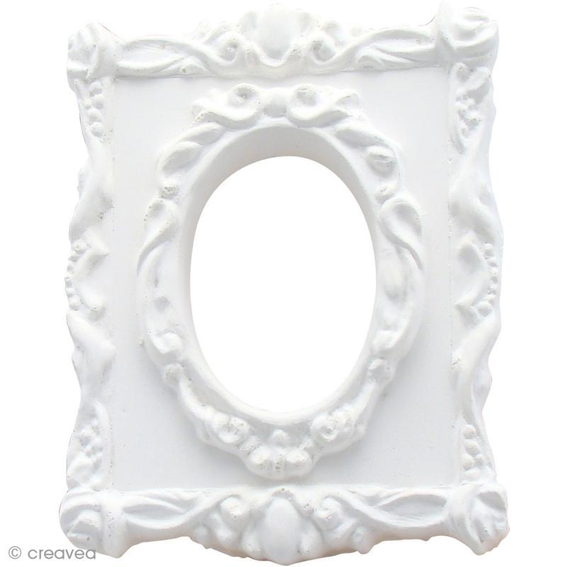 forme en pl tre cadre rectangle baroque ovale 9 x 6 8 cm forme en pl tre creavea. Black Bedroom Furniture Sets. Home Design Ideas