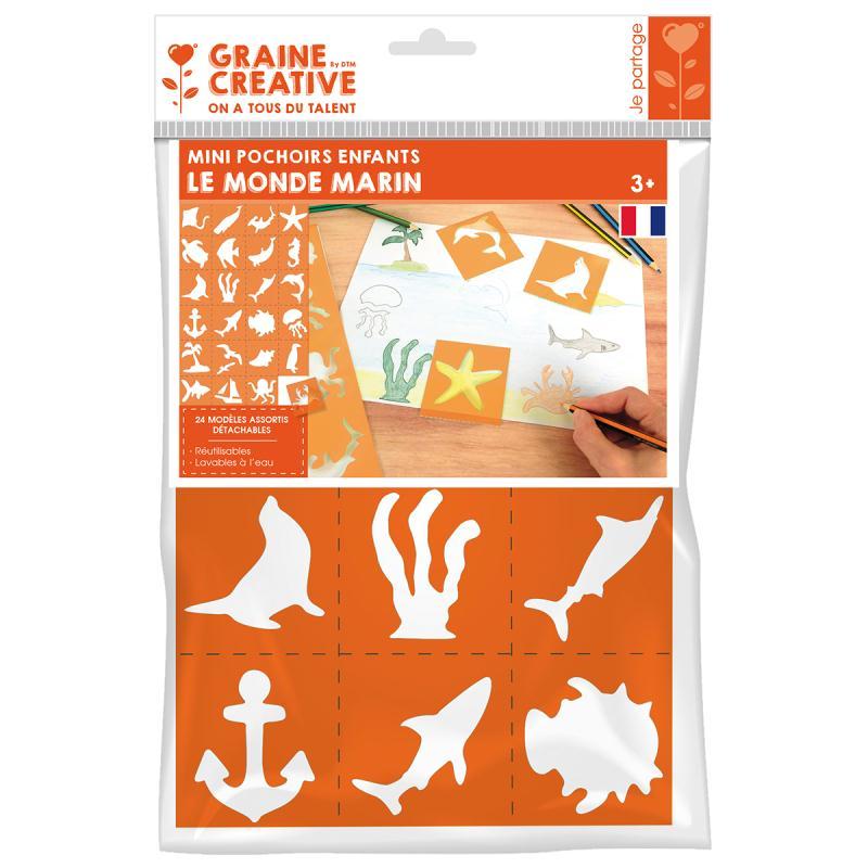pochoirs en plastique monde marin 24 pochoirs 7 cm pochoir animaux creavea