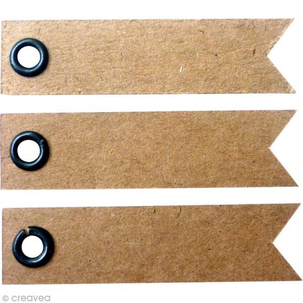 Etiquette à oeillet Kraft - 5 x 1,2 cm - 20 pcs - Photo n°1