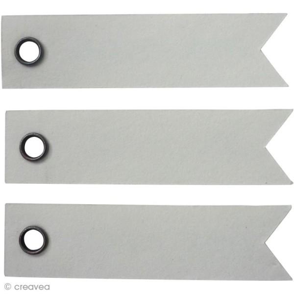 Etiquette à oeillet Blanc - 5 x 1,2 cm - 20 pcs - Photo n°1