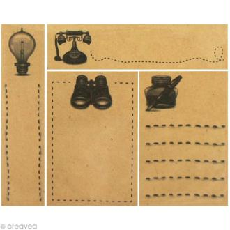 Mini notes adhesives Vintage Kraft - 75 x 20 mm - 80 notes adhésives