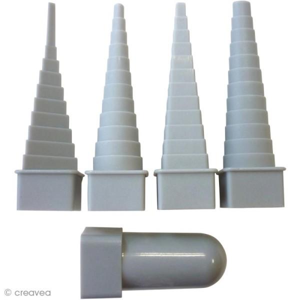 Mandrin pour fil aluminium - 4 formes géométriques - Photo n°1