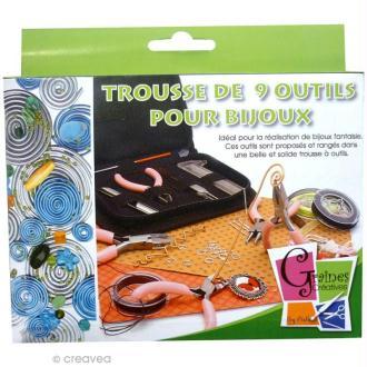Kit pochette 9 outils pour fabrication de bijoux