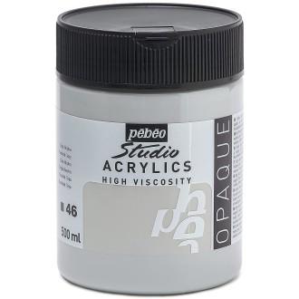 Peinture acrylique Pébéo Studio - Gris neutre 500 ml