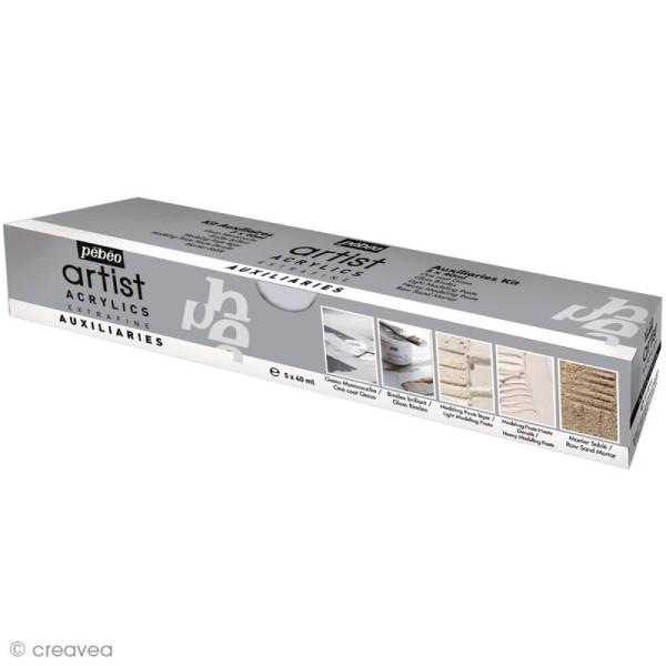 Auxiliaires Pébéo - Kit Studio Acrylics Extrafine - 5 x 40 ml - Photo n°1