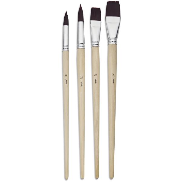 Pinceau Pebeo - Assortiment de 4 brosses en polyamide brun - Photo n°1
