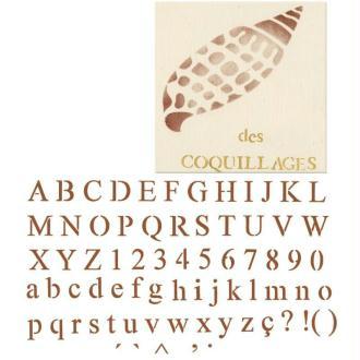 Pochoir alphabet fin 42 x 25 cm