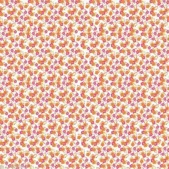 Papier décoratif à coller Artepatch - Fleurs fond blanc - 40 x 50 cm