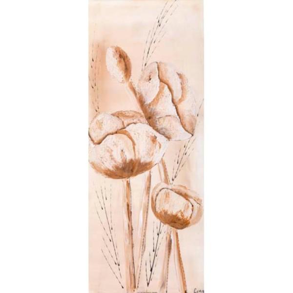 Image 3D Fleur - Fleurs au pastel 20 x 50 cm - Photo n°1
