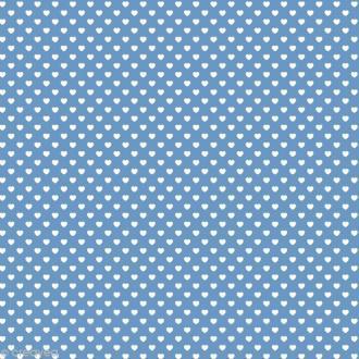 Feutrine à motifs Artemio 1 mm 30 x 30 cm - Coeurs Bleu
