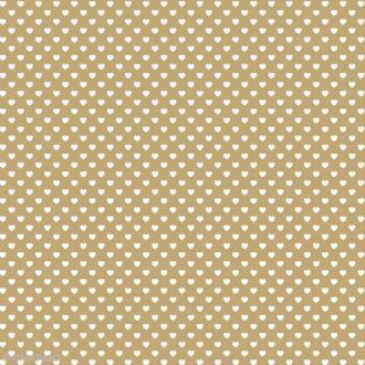 Feutrine à motifs Artemio 1 mm 30 x 30 cm - Coeurs Ivoire