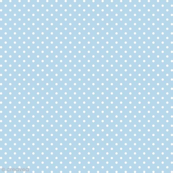 Feutrine à Motifs Artemio 1 Mm 30 X 30 Cm Pois Bleu Feutrine