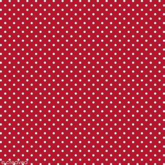 Feutrine à motifs Artemio 1 mm 30 x 30 cm - Pois Rouge