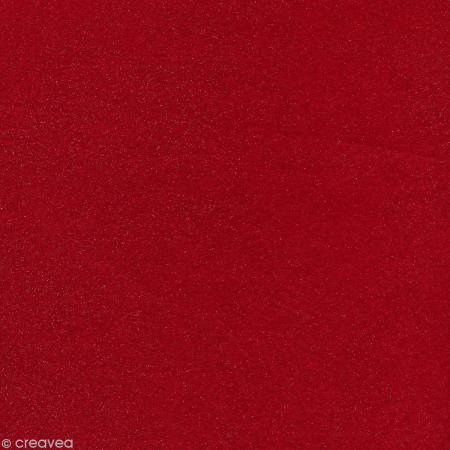 Feutrine pailletée Artemio 1 mm 30 x 30 cm - Rouge - Photo n°1
