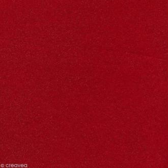 Feutrine pailletée Artemio 1 mm 30 x 30 cm - Rouge