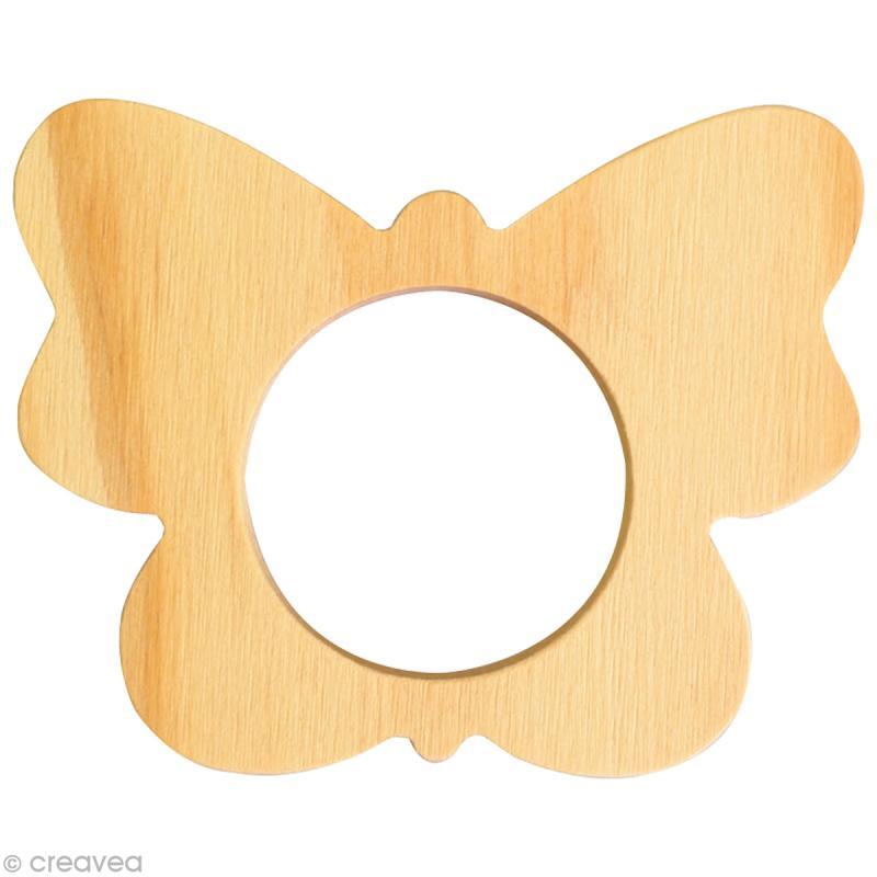 rond de serviette bois peindre papillon ustensile cuisine creavea. Black Bedroom Furniture Sets. Home Design Ideas