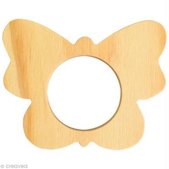 Rond de serviette bois à peindre - Papillon